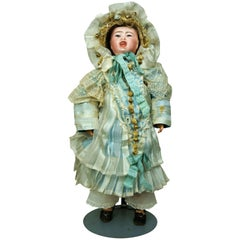 19th Century French Bisque Two-Faced Character Doll from 200 Series by Jumeau