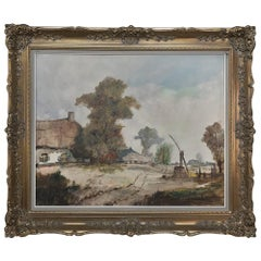 Antique Framed Oil Painting on Canvas by Henri Joseph Pauwels