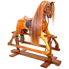 Handcrafted Wooden Rocking Horse by Geoff Martin