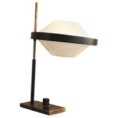 Stilnovo 50 years 1950s Table Lamp in Plexiglass and Brass