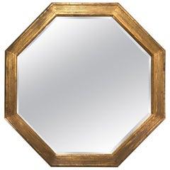 Sensational Monumentally Large Octagonal Italian Giltwood Mirror