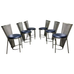 Vintage Dining Chairs by Frans Van Praet, Set of Six