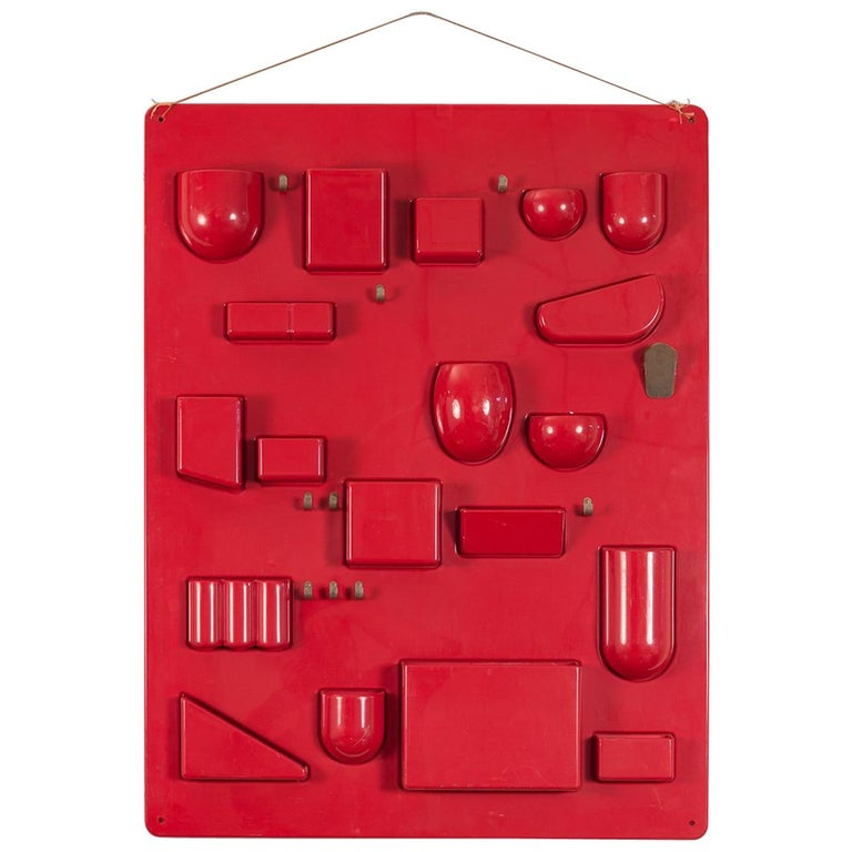 Red Uten.Silo Wall Organizer by Dorothee Becker
