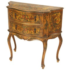 Italian Painted Louis XV Style Chest of Drawers