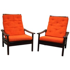 Vintage Scandinavian Lounge Chairs, Set of Two, 1960s