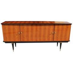 French Art Deco Light Exotic Macassar Bony Sideboard or Buffet, circa 1940s