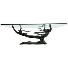 Willy Daro Bonsai Tree Brass Coffee Table