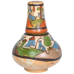 Tlaquepaque Mexican Bedside Water Bottle with Tumbler Top