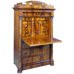 Early 19th Century Biedermeier Danish Secretaire a Abattant