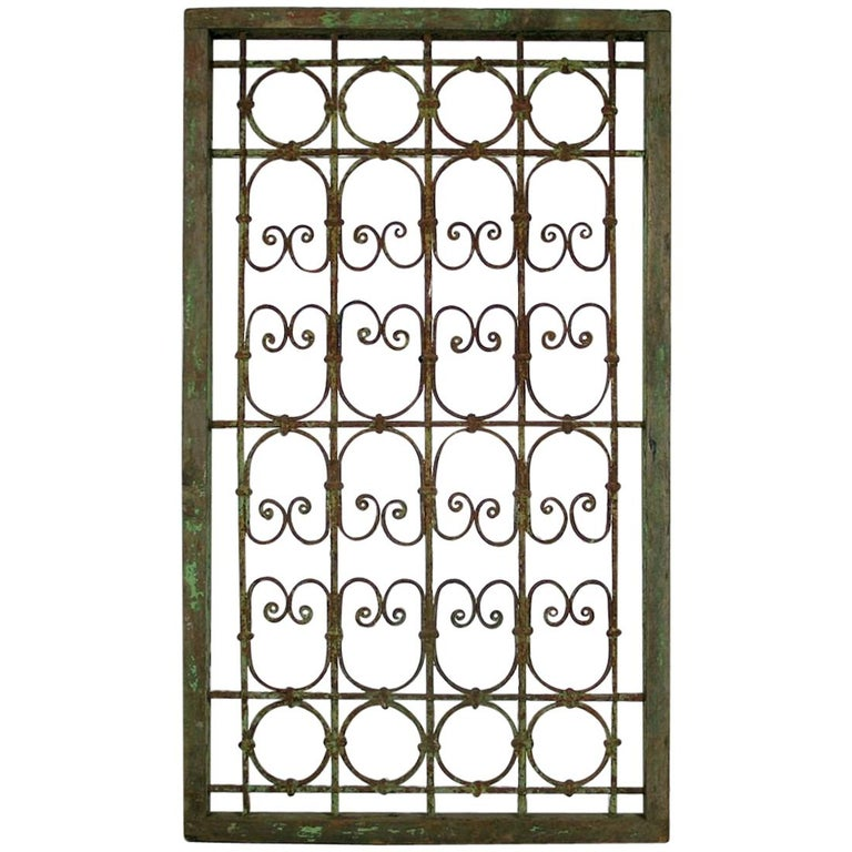 Late 19th Century Moroccan Window Frame