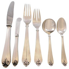 Diana by Cohr Danish Sterling Silver Flatware Set Service 34 Pieces Handmade