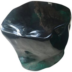 Andrianna Shamaris Obsidian Volcanic Glass Side Table