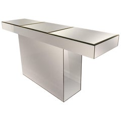 Midcentury Mirrored Console Table