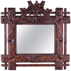 Black Forest Wall Mirror, Germany, circa 1880