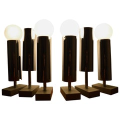 Set of Six Midcentury Wall Lamp Sconces Staff Leuchten, Motoko Ishii, 1970s