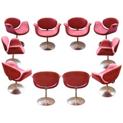 "Set of Ten ""Little Tulip"" Armchairs by Pierre Paulin, 163 Model, circa 1965"