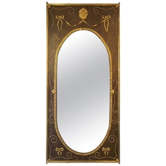 Rare and Spectacular Mirror in Louis XVI Style, France, circa 1880