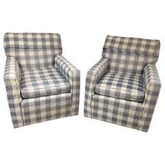 Vintage Kravet Brunschwig & Fils Upholstered Down Filled Armchairs