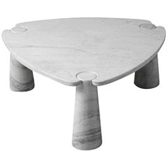 Eros Coffee Table in Marble by Angelo Mangiarotti in Solid Marble