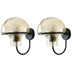 Pair of Rare and Large Modernist Sconces Wall Lights, Sweden, 1960s