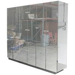 1970s Mirrored Storage Unit