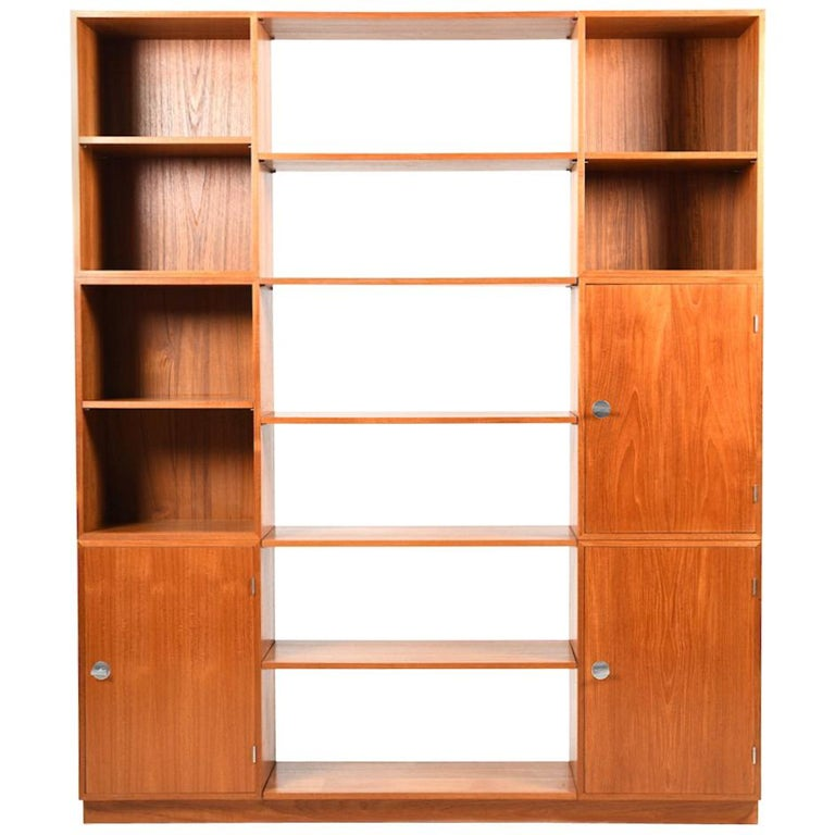 Finn Juhl Diplomat-Series Teak Wooden Bookcase or Shelfunit 1960s