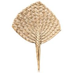 19th Century Palm Leaf Fan, Tonga