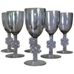 20th Century, Art Deco, René Lalique, 1924 Set of Six Molsheim Liqueur Glass