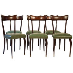 Set of Six Chairs in the Style of Ico Parisi, circa 1950