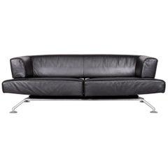 COR Circum Designer Leather Three-Seat Sofa Black