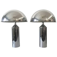 Pair of Extra Large Exceptional Mid-Century Modern Table Lamps by WKR, Germany