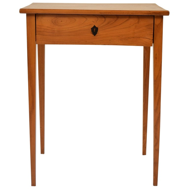 Early 19th Century Biedermeier Ash Side Table