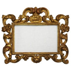 17th Century Italian Baroque Carved and Giltwood Picture Frame, Roma, circa 1650