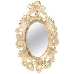 Gorgeous Lucite Wall Mirror, circa 1960s, Hollywood Regency, Italy