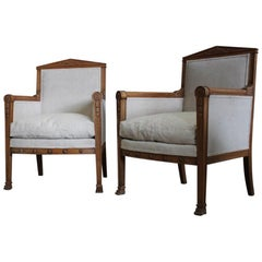 Pair of Early 19th Century French Empire Armchairs