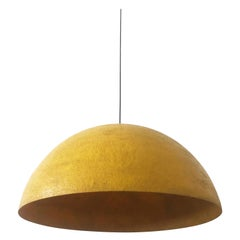 Exceptional and Large Midcentury Fiberglass Pendant Lamp Dome, 1960s, Germany
