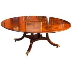 Vintage Diameter Regency Mahogany Dining Table William Tillman 20th Century
