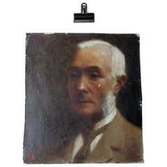 Oil on Board Portrait of Augustus William Dubourg, by R.S. Moseley RA