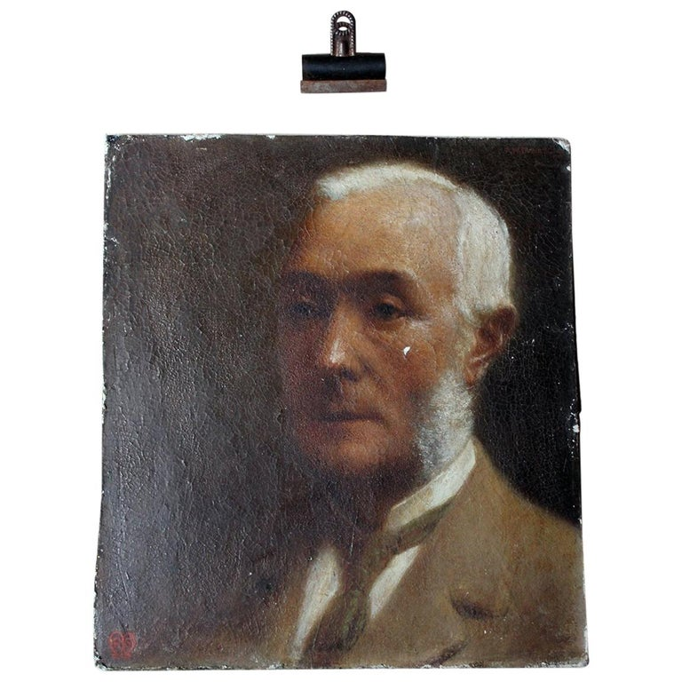 Oil on Board Portrait of Augustus William Dubourg, by R.S. Moseley RA For Sale