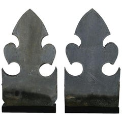 Pair of French 19th Century Zinc Finials