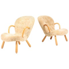 Pair of Clam Chairs by Philip Arctander