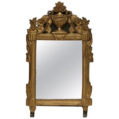 18th Century Giltwood French Louis XVI Mirror