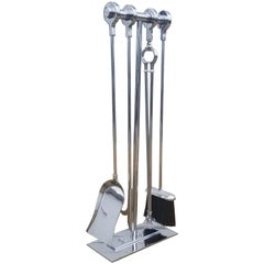 Danny Alessandro Chrome Ring Handle Fire Place Tools