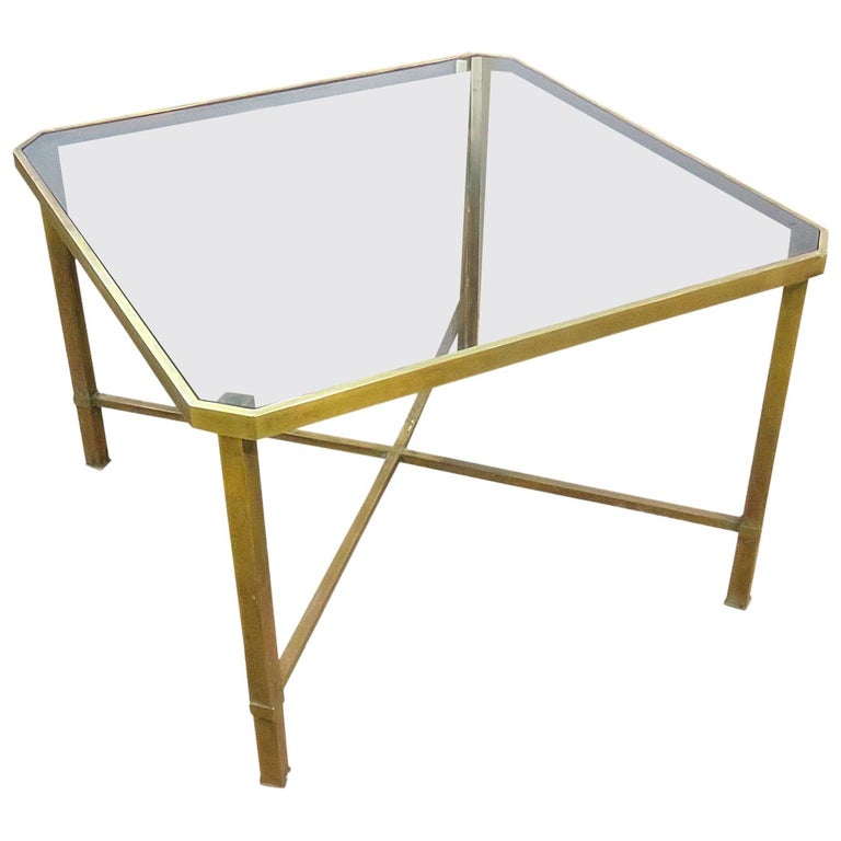 Italian Modern Glass Top Coffee Table