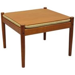 Flip Top Midcentury Danish Modern Convertible Teak Side Table or Stool