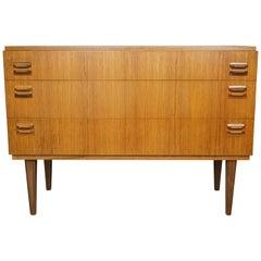 Midcentury Design and Danish Look Teak Wooden Chest of Drawers