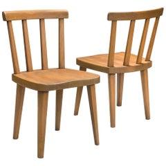 Axel Einar Hjorth, for Nordiska Kompaniet, a Pair of Swedish Pine Utö Chairs