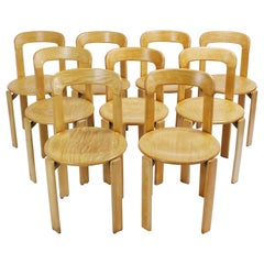 Up to 50 Midcentury Stacking Chairs by Bruno Rey for Dietiker Switzerland, 1970