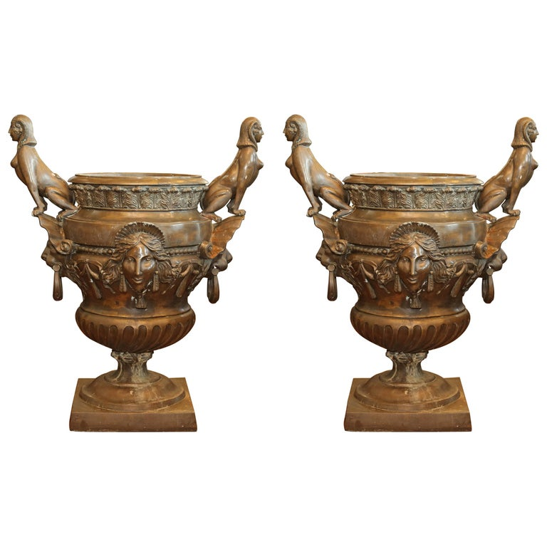 Pr/Bronze Urns with Mythological Representation from Chinese Collector For Sale
