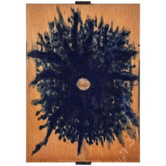 Ricker Handmade Original Abstract Artwork Made with Indigo Dye